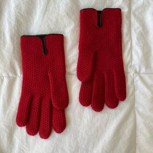 Red Cashmere Gloves